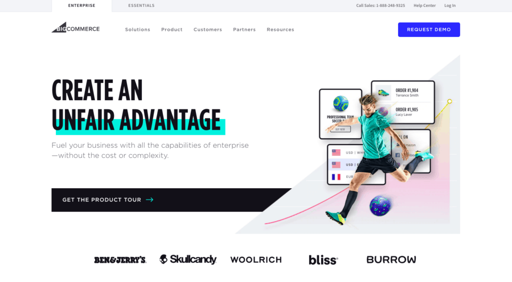 BIGCOMMERCE WEBSITE BUILDER - HOMEPAGE