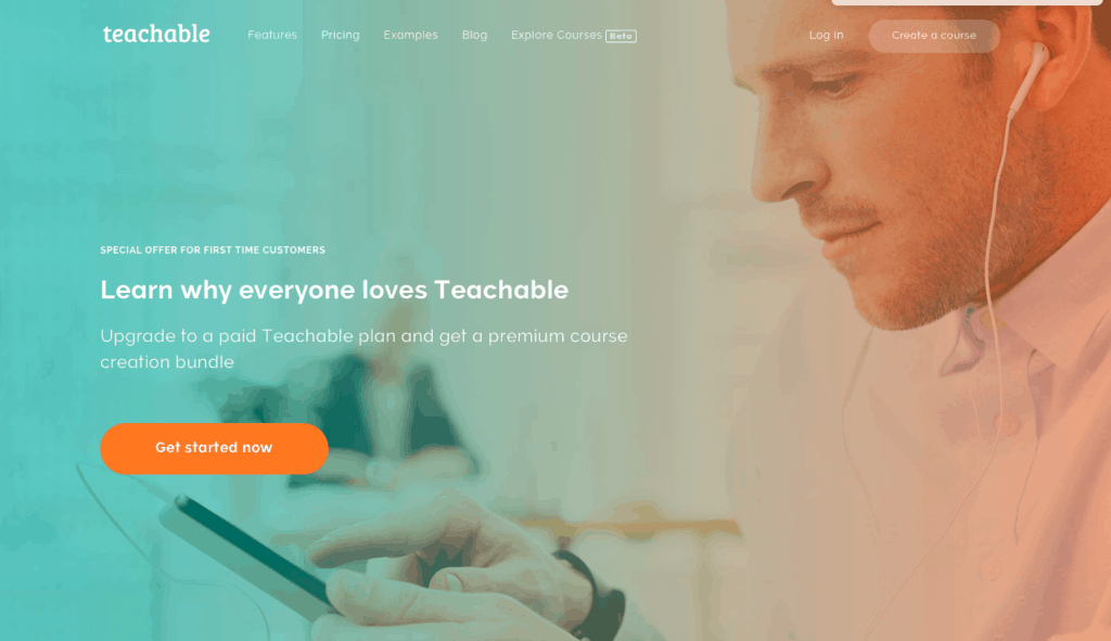 TEACHABLE HOME PAGE - ONLINE COURSE PLATFORMS