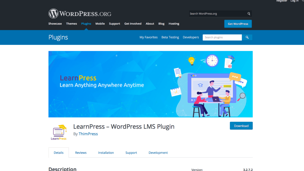 Learn Press LMS plugin