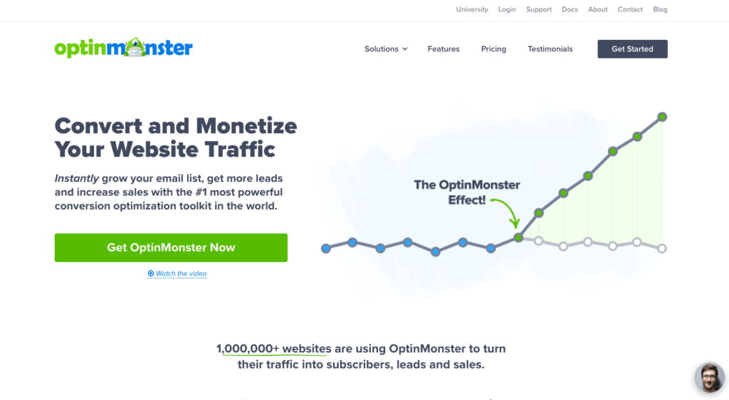 OptinMonster HomePage -How to use the Zeigarnik effect in marketing
