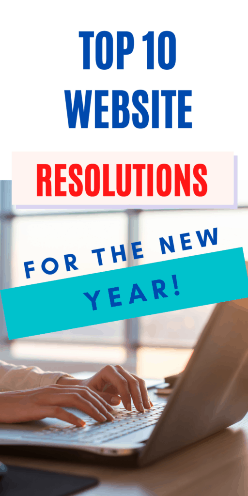 website resolutions for the new year